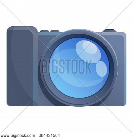 Dslr Camcorder Icon. Cartoon Of Dslr Camcorder Vector Icon For Web Design Isolated On White Backgrou