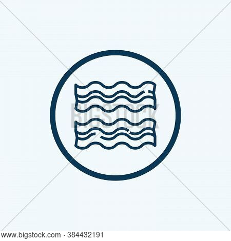 Bacon Icon Isolated On White Background From Breakfast Collection. Bacon Icon Trendy And Modern Baco