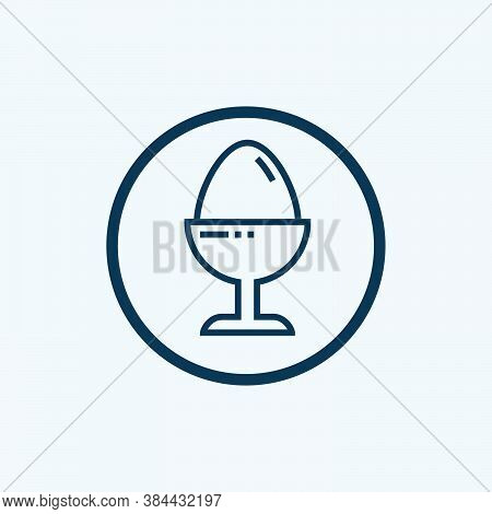 Boiled Egg Icon Isolated On White Background From Bed And Breakfast Collection. Boiled Egg Icon Tren