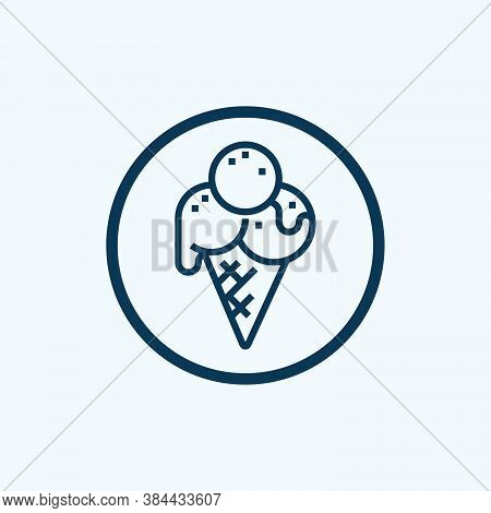 Ice Cream Icon Isolated On White Background From Swimming Pool Collection. Ice Cream Icon Trendy And