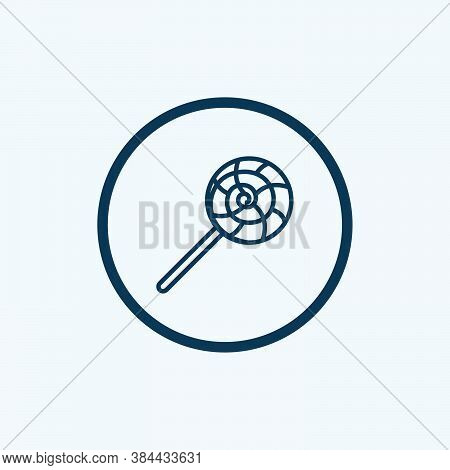 Lollipop Icon Isolated On White Background From Circus Collection. Lollipop Icon Trendy And Modern L