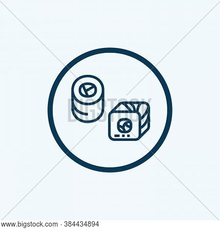 Sushi Icon Isolated On White Background From Japan Collection. Sushi Icon Trendy And Modern Sushi Sy