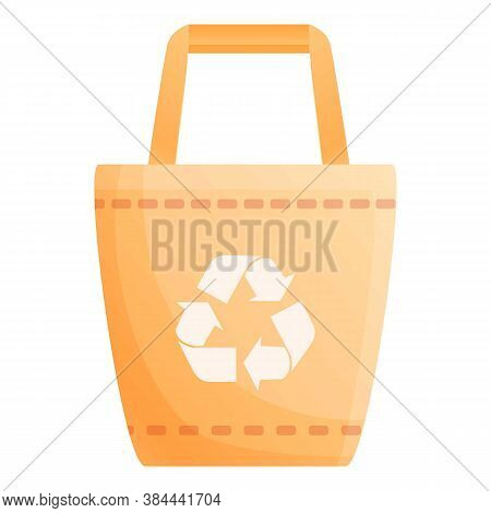 Friendly Eco Bag Icon. Cartoon Of Friendly Eco Bag Vector Icon For Web Design Isolated On White Back