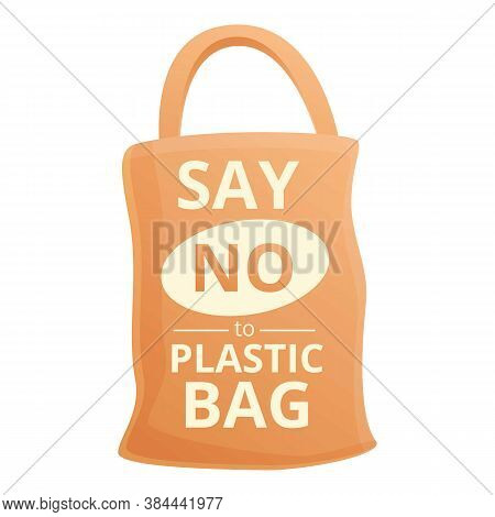 Say No Plastic Bag Icon. Cartoon Of Say No Plastic Bag Vector Icon For Web Design Isolated On White