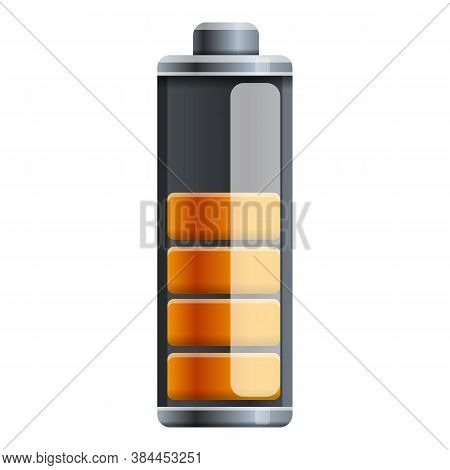 Half Capacity Battery Icon. Cartoon Of Half Capacity Battery Vector Icon For Web Design Isolated On