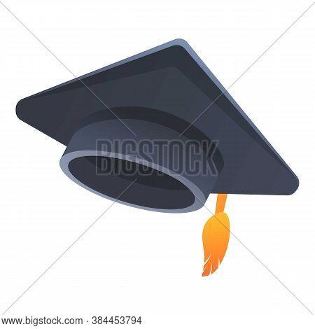 Academy Graduation Hat Icon. Cartoon Of Academy Graduation Hat Vector Icon For Web Design Isolated O