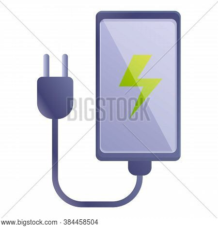 Phone Charger Icon. Cartoon Of Phone Charger Vector Icon For Web Design Isolated On White Background