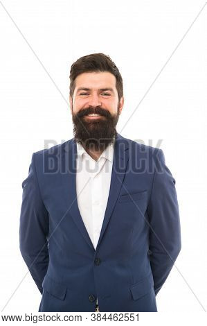 Business People. Confident Businessman Handsome Bearded Man In Formal Suit. Businessman Concept. Bri