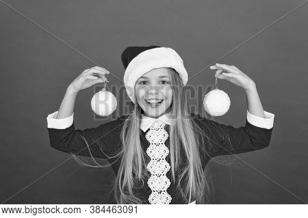 Christmas Decor. Winter Holidays. Playful Mood. Snowball Concept. Happy Kid. Add Some Decorations. C