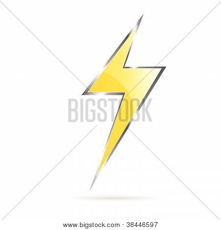 Flash Sign Yellow Vector Illustration