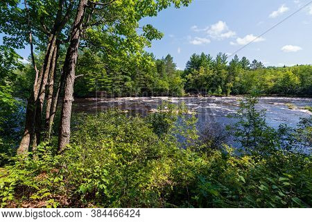 Kettle River And Forest Of Banning State Park In Pine County Minnesota