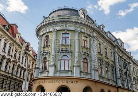 Historical Building Of Magistrate, Liberec, North Bohemia, Czech Republic, August 16, 2020.