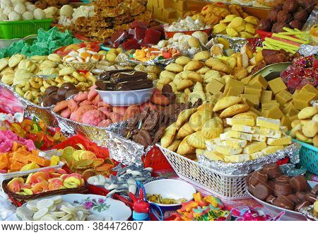 Traditional Sweets: Cookies, Jelly, Candy, Chocolate, Marshmallow, Nuts And More  During Catholic Co