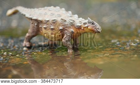 Ankylosaurus Is A Herbivore Genus Of Armored Dinosau, The Dinosaur From The Very End Of The Cretaceo
