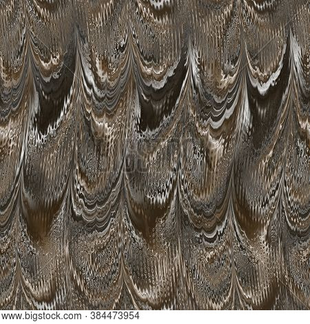 Artistic Illustration Of Mother Of Pearl Wavy Pattern. Iridescent Texture With Geometric Mother Of P