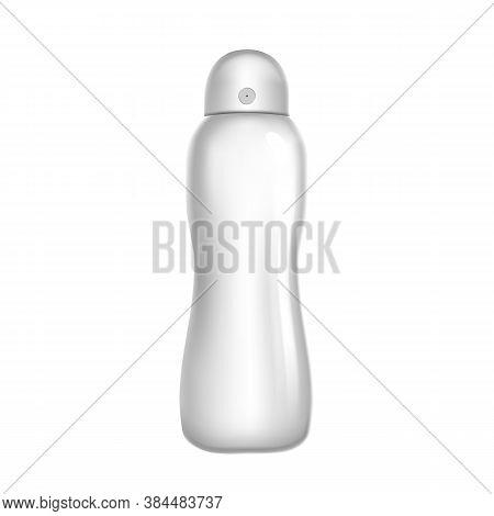 Deodorant Sprayer Hygiene Aromatic Product Vector. Deodorant Spray Blank Steel Metal Package Jar. Hy