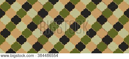 Seamless Moroccan Texture Moroccan Seamless Mosaic Pattern. Eid Mubarak Islamic Illustration. Persia