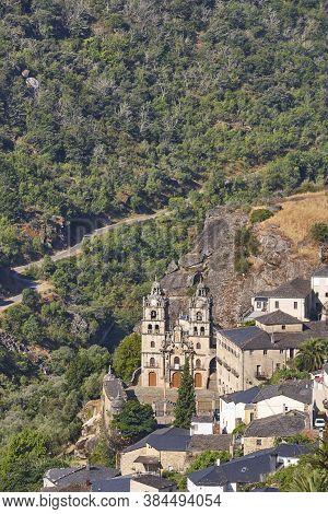 Ribeira Sacra. As Ermidas Village With Antique Church. Galicia, Spain
