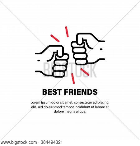 Fist Bump Icon. Best Friends. Friendship. Vector On Isolated White Background. Eps 10