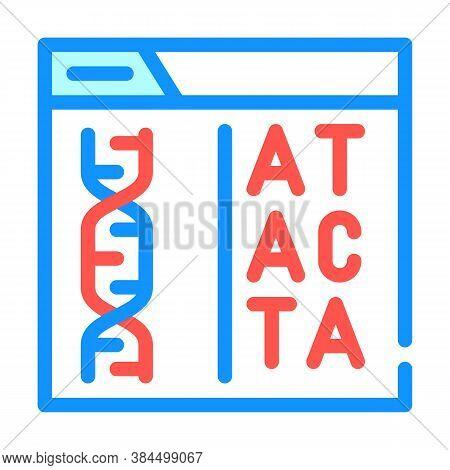Decoding Dna Code Color Icon Vector Illustration