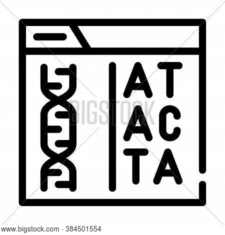 Decoding Dna Code Line Icon Vector Illustration
