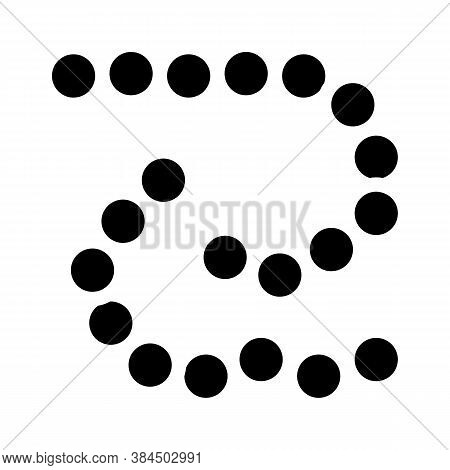 Bacillus Anthracis Glyph Icon Vector Isolated Illustration