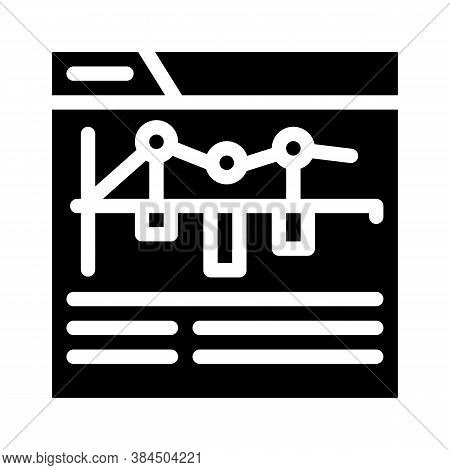 Internet Betting Monitoring Infographic Glyph Icon Vector Illustration