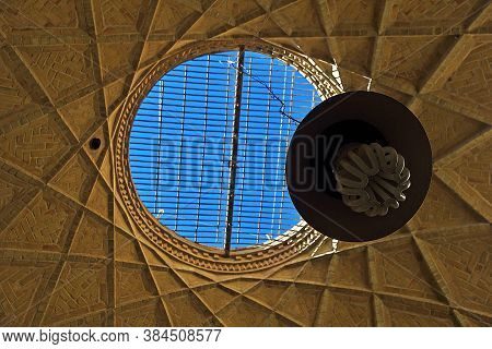 Yazd / Iran - 01 Oct 2012: The Ceiling Of The Mosque In Yazd City, Iran
