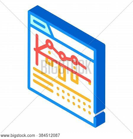 Internet Betting Monitoring Infographic Isometric Icon Vector Illustration