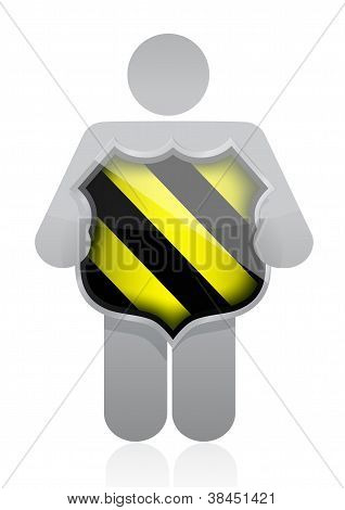 Icon Holding A Security Shield