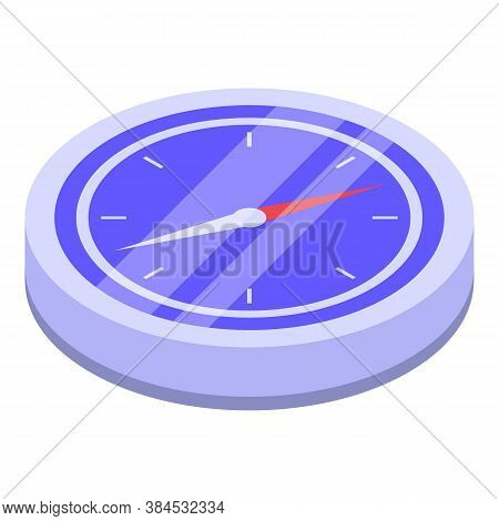 Navigation Compass Icon. Isometric Of Navigation Compass Vector Icon For Web Design Isolated On Whit