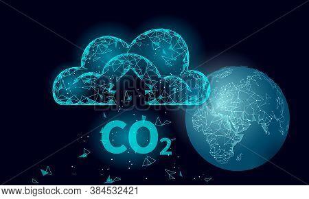 Carbon Dioxide Co2 Ecology Problem Eco Concept. Renewable Organic Gas 3d Render. Science Biofuel Che