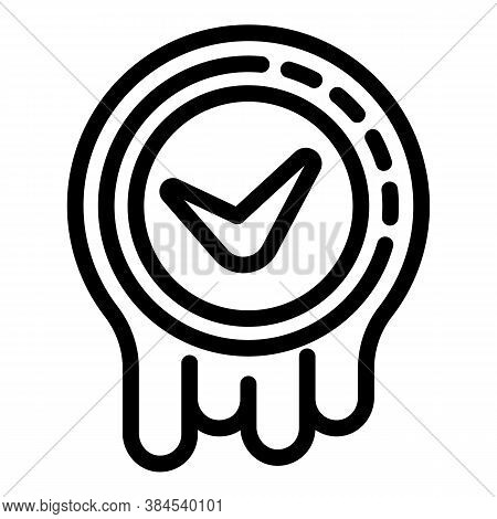 Approved Iso Icon. Outline Approved Iso Vector Icon For Web Design Isolated On White Background