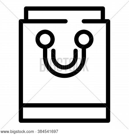 Ecological Bag Icon. Outline Ecological Bag Vector Icon For Web Design Isolated On White Background
