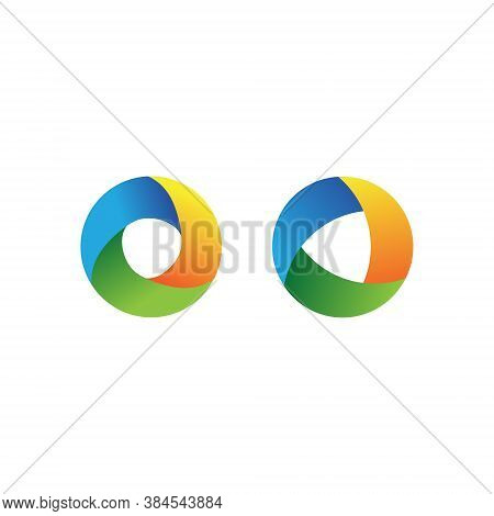 Vortex Circle Logo Collection Set Abstract Circle Shape - Spiral Motion Twirl Twist Curve Rotation S
