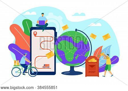 Mail Concept, Messages, Letters And Communication By Post Or Internet, Send Letters Vector Illustrat