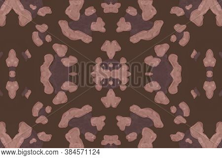 Seamless Leopard Repeat. Brown Giraffe Art Pattern. Watercolour Spotted Safari Wallpaper. Fashion Wi