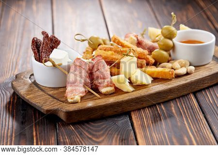appetizer on the wooden background