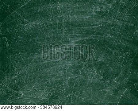 Blackboard Chalkboard Texture.empty Blank Green Scratched Chalkboard.school Board Background With Tr