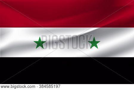 The Flag Of The Syrian Arab Republic Waving 10 Eps