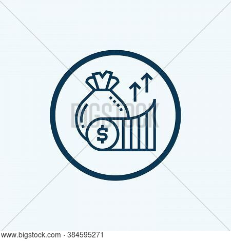 Profit Icon Isolated On White Background From Business Collection. Profit Icon Trendy And Modern Pro