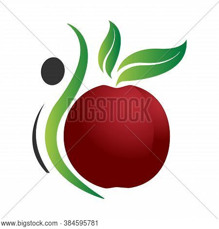 Apple Icon Isolated Flat Design Symbol. Apple Icon Trendy And Modern Apple Symbol. Apple Icon Simple
