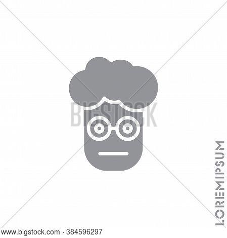 Meh Boy, Man Icon Vector, Emoticon Symbol. Modern Flat Symbol For Web And Mobil Apps. Sad Face Emoji