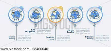 Financial Literacy Objectives Vector Infographic Template. Money Manangement Presentation Design Ele
