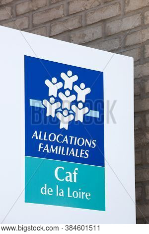 Saint Etienne, France - June 21, 2020: Caisse D'allocations Familiales Of Loire Department Or Caf Is