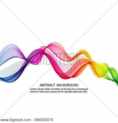 Abstract Horizontal Smoky Rainbow Wave Vector Design Eps10