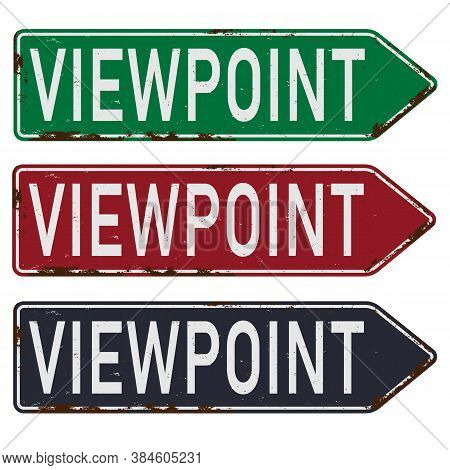 Direction Sign Viewpoint Set On A White Background