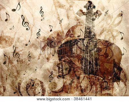 Vintage Violin Background