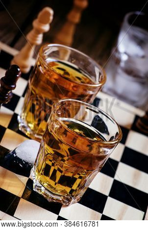 Cold Brandy On A Chess Board, Selective Focus