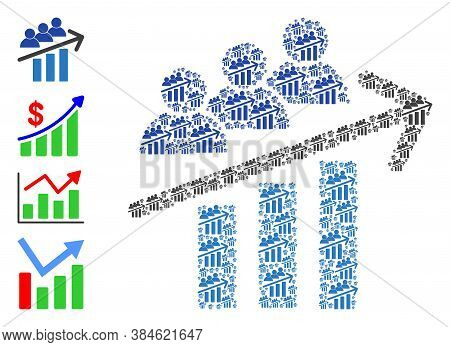 Vector Users Trend Arrow Collage Is Organized Of Repeating Recursive Users Trend Arrow Parts. Recurs